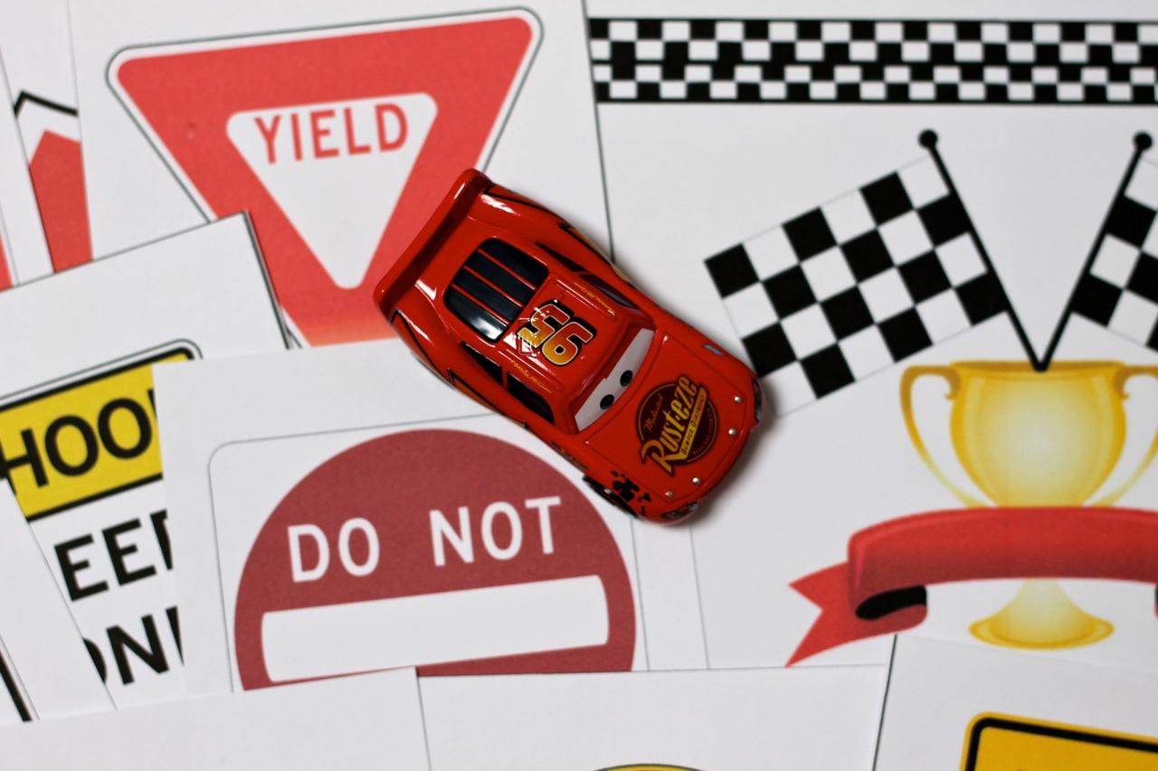 Race Car Printables With Diy Checkered Flag And Race Track Play Mat - Free Printable Checkered Flag Banner