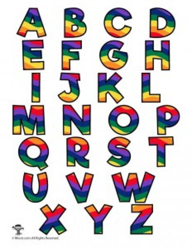 Rainbow Alphabet Printable Letters | Woo! Jr. Kids Activities With - Free Printable Rainbow Letters