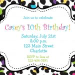 Rainbow Cheetah Girls Birthday Party Invitation Printable | Etsy   Free Printable Cheetah Birthday Invitations