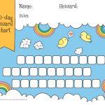 Rainbow & Sky 30 Day Reward Chart For Kids   Free Printable   Reward Charts For Toddlers Free Printable