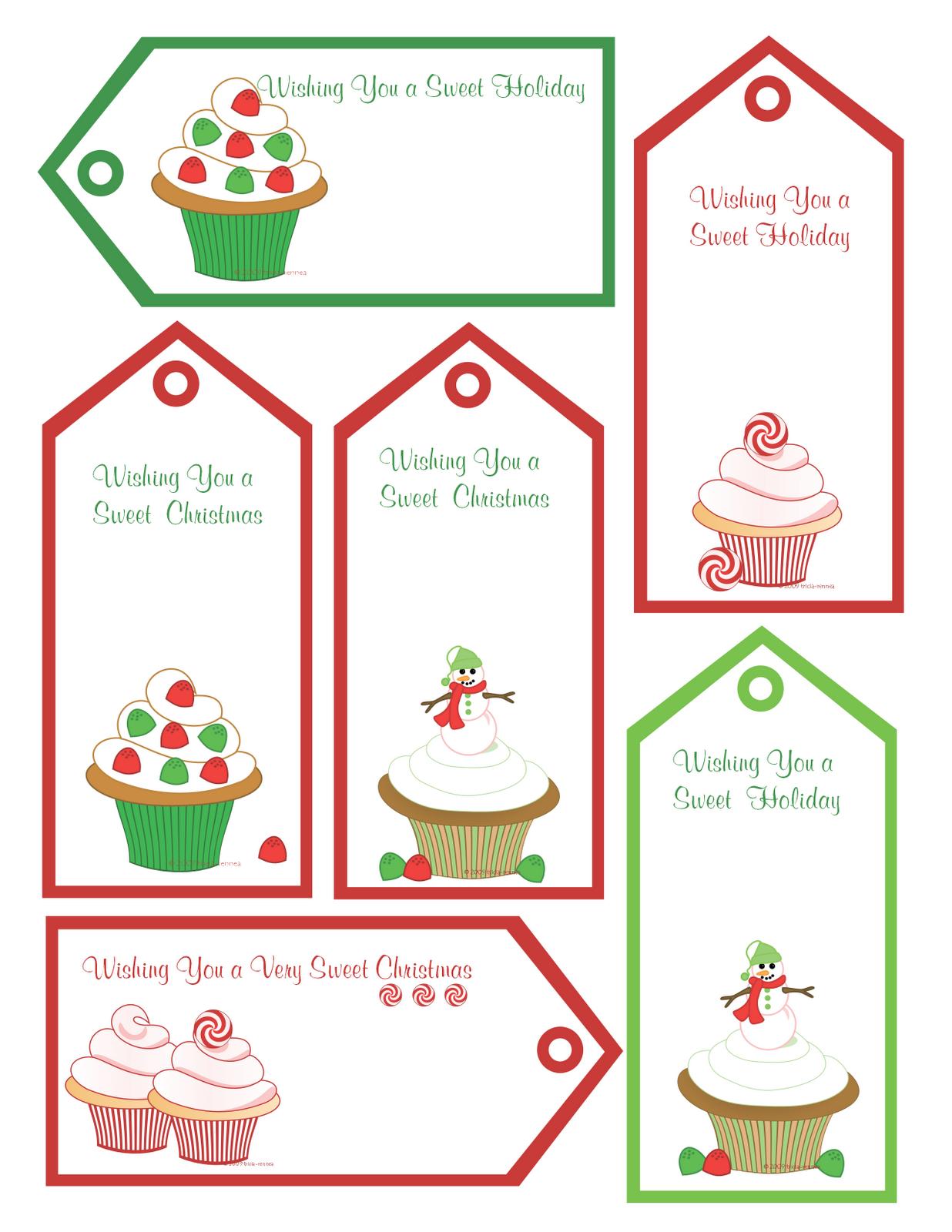 Red Black Name Tags Printable |  Shoppe: Free Christmas - Free Printable Gift Name Tags