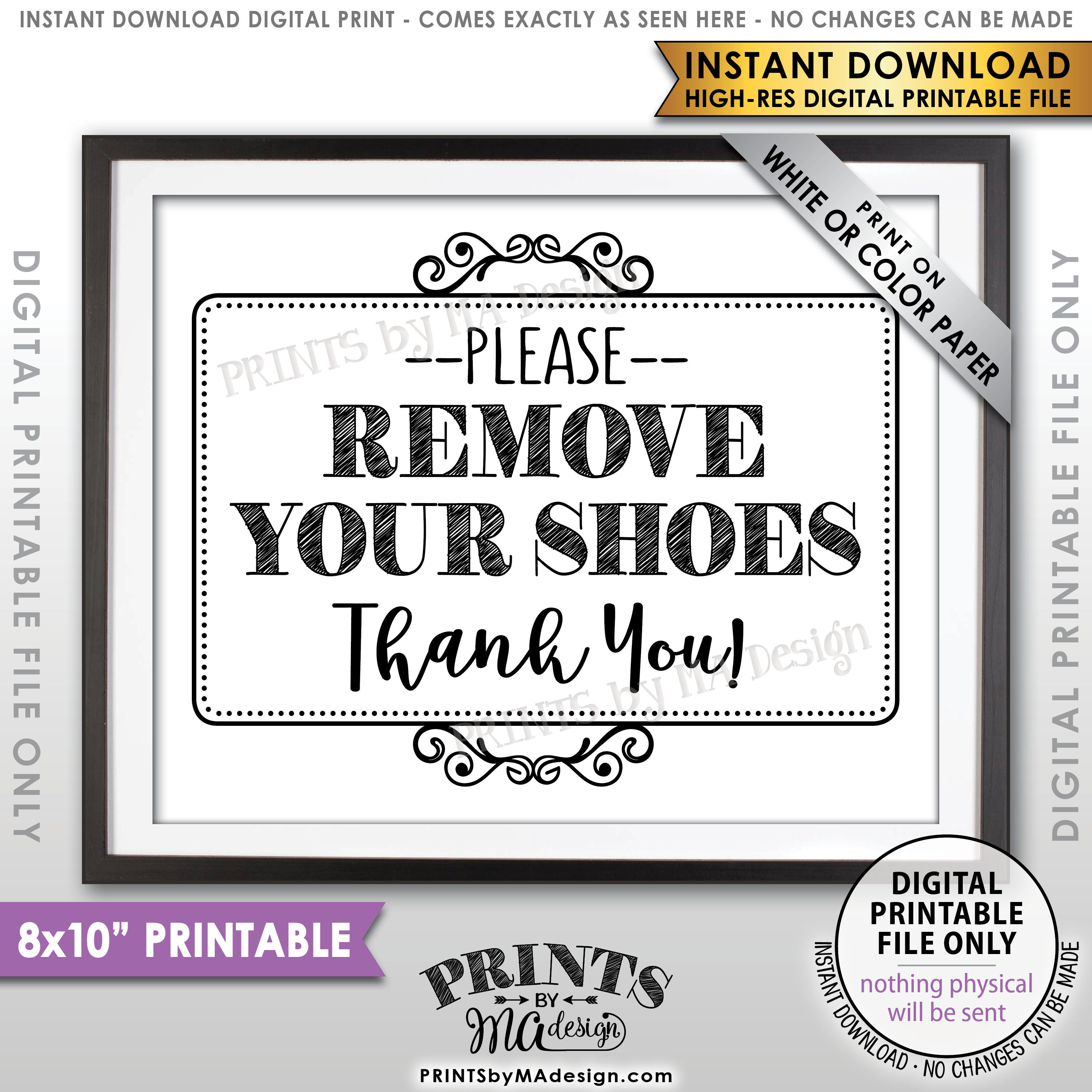 Remove Shoes Sign, Please Remove Your Shoes, Entryway Sign - Free Printable Remove Your Shoes Sign