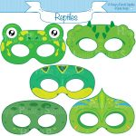 Reptile Printable Masks, Lizard Mask, Turtle, Alligator, Chameleon   Free Printable Lizard Mask