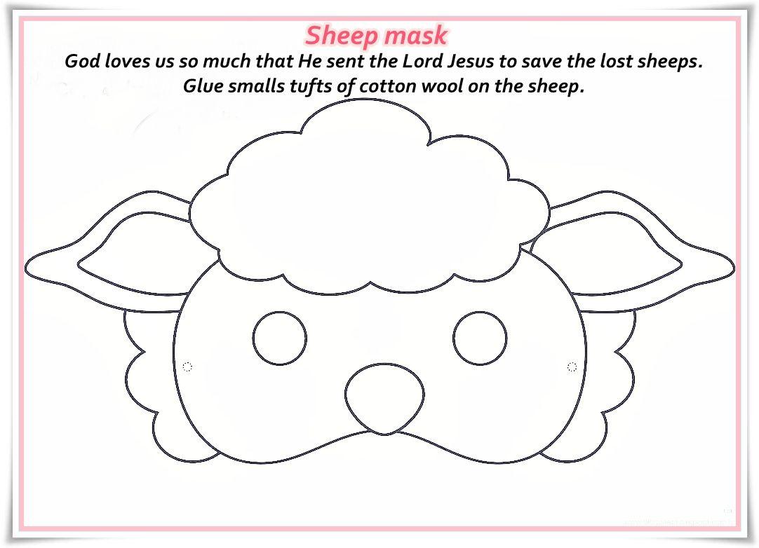 Resultado De Imagen De Free Printable Sheep Masks | Pre K - Free Printable Sheep Mask