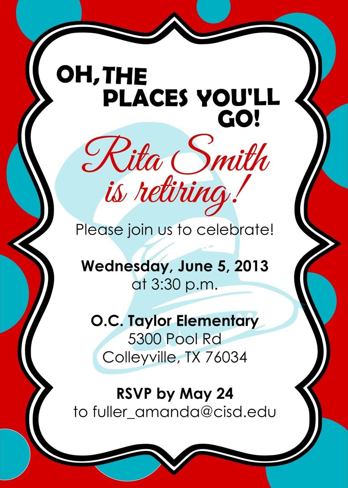 Retirement Party Invitations Free Templates   Fun Stuff   Pinterest - Free Printable Retirement Cards