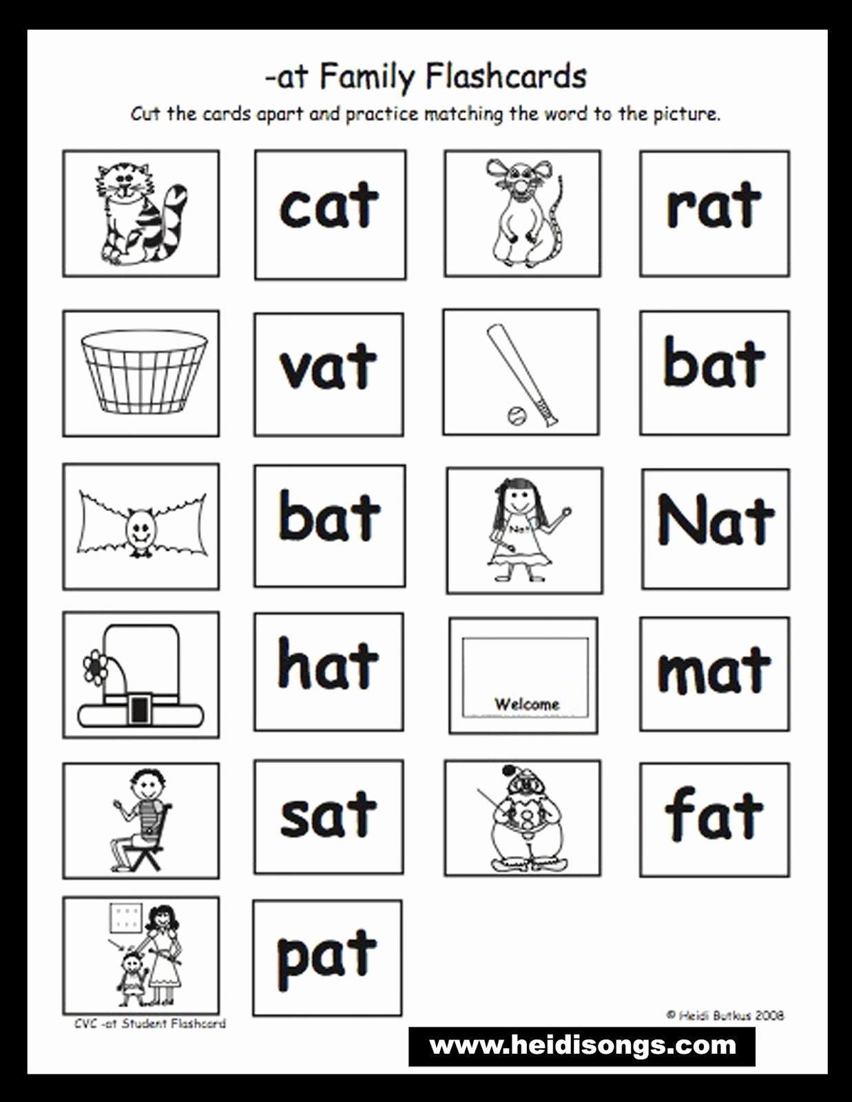 Rhyming Words Worksheet Kindergarten Math Printable Activities - Free Printable Rhyming Words Flash Cards