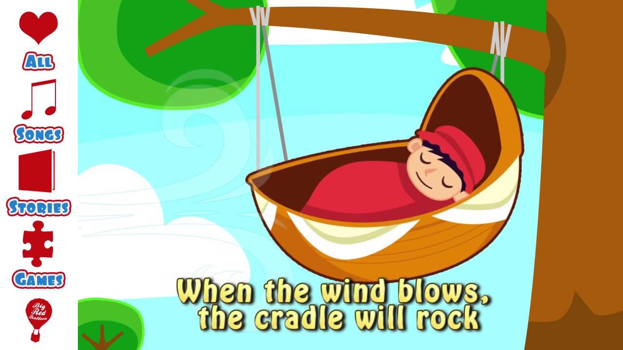 Rock A Bye Baby Song | Lullaby Lyrics | Nursery Rhyme | Free - Free Printable Nursery Rhymes Songs