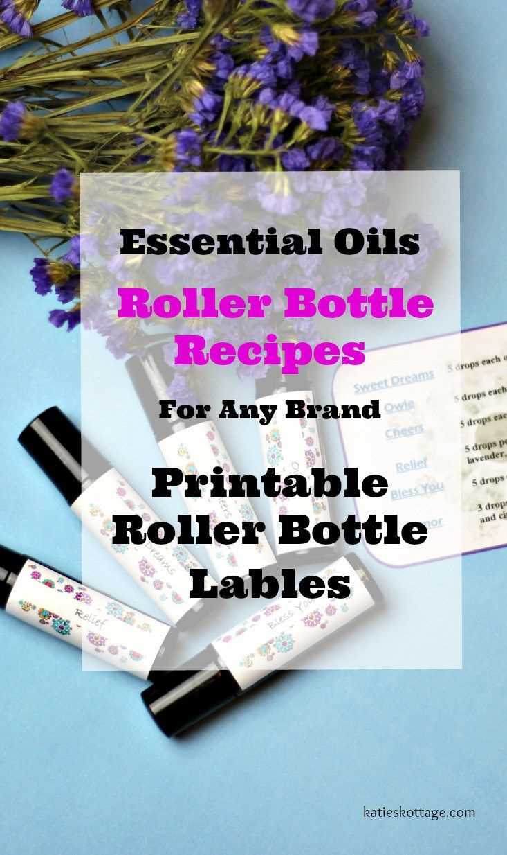 Roller Bottle Recipes With Free Printable Labels | Katieskottage - Free Printable Roller Bottle Labels