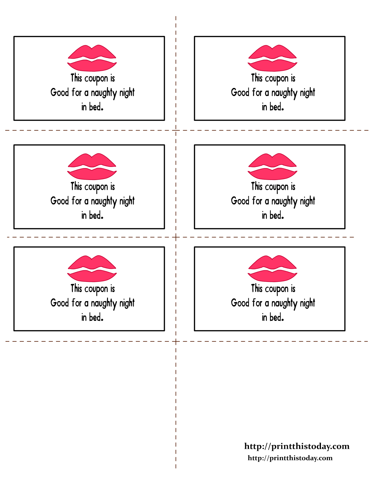Romantic Love Coupon Printable | Romantic Love Coupons | Print This - Free Printable Coupons For Husband