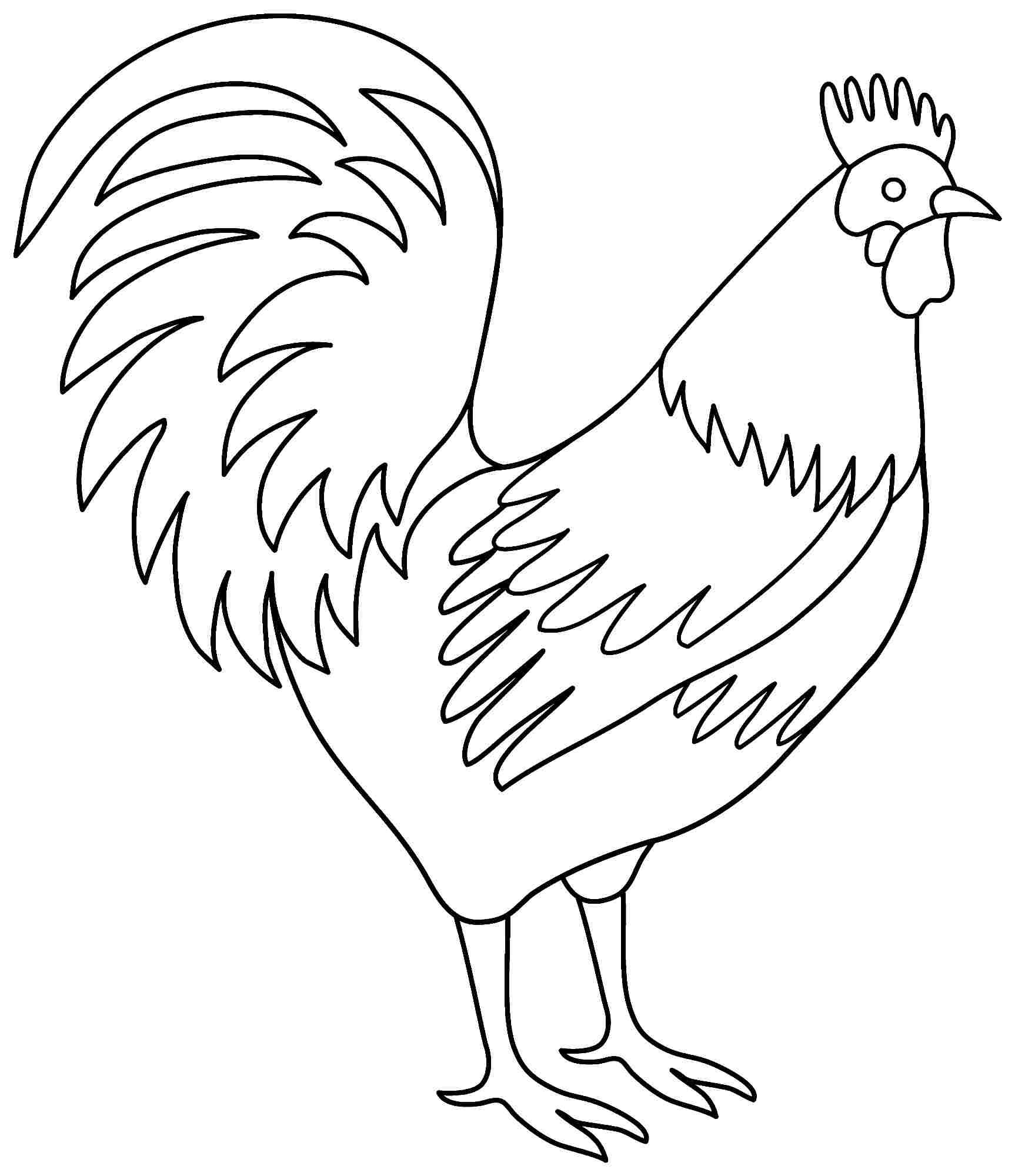 Rooster Coloring Pages | Chickens | Pinterest | Coloring Pages, Free - Free Printable Pictures Of Roosters
