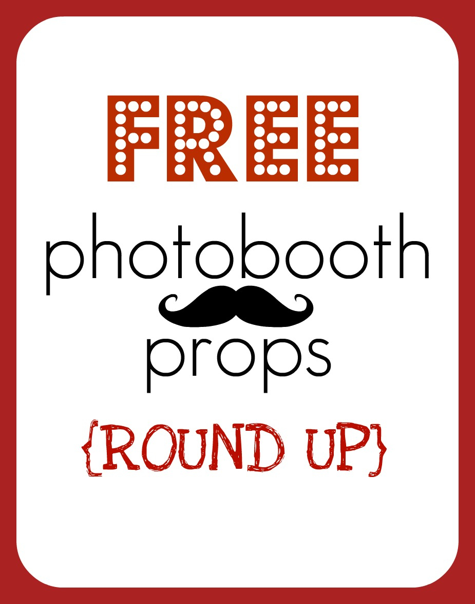 Round Up} Free Printable Photobooth Props - Creative Juice - Free Photo Booth Props Printable Pdf