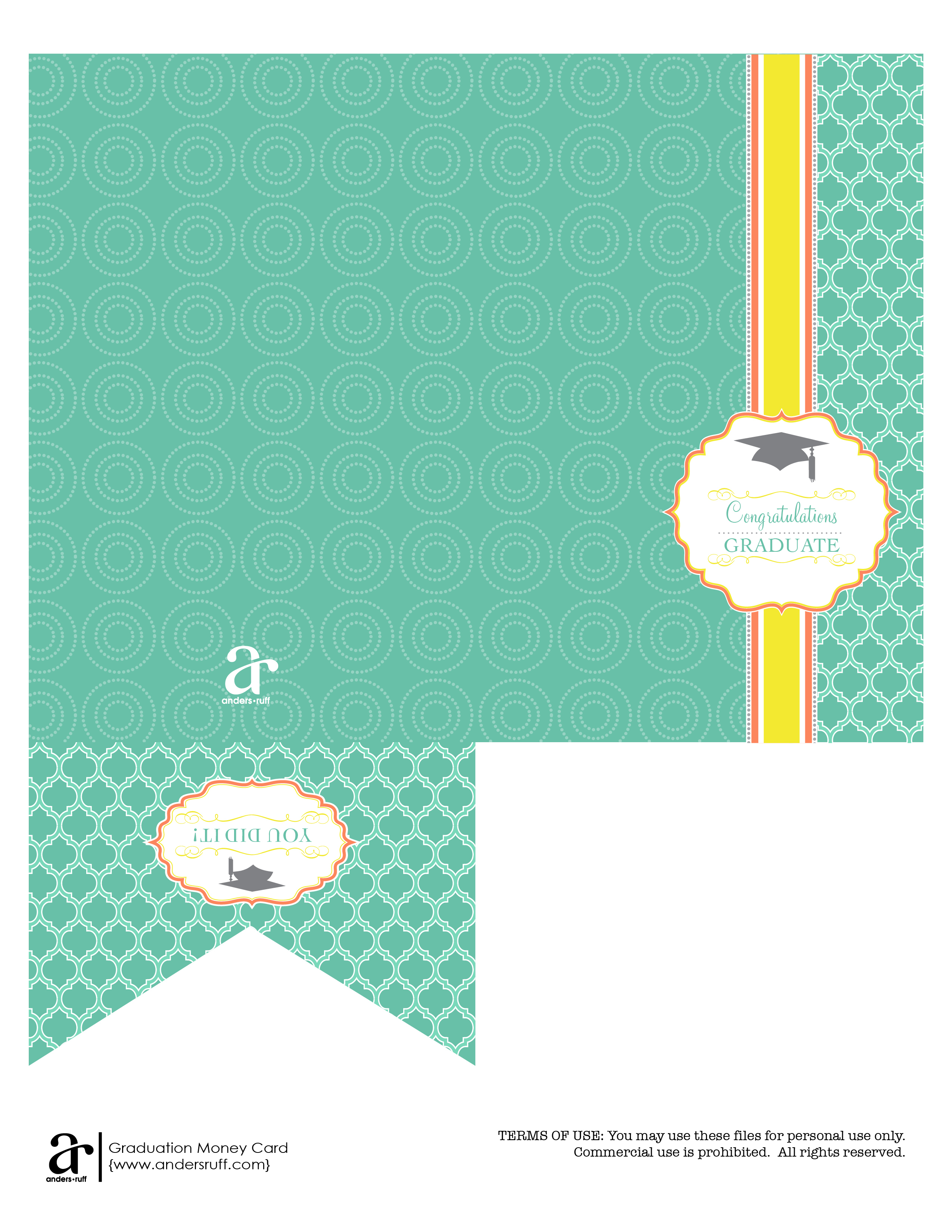 Ruff Draft: Free Printable Graduation Money Card - Anders Ruff - Free Printable Graduation Cards