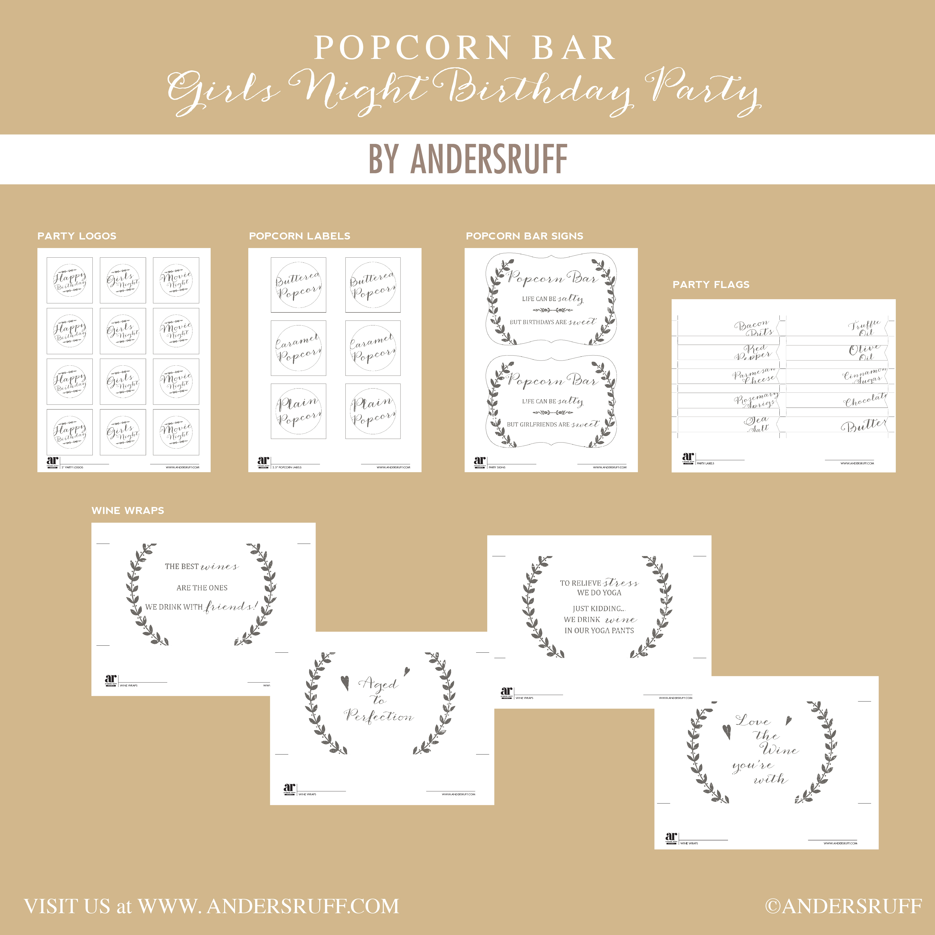 Ruff Draft: Popcorn Bar With Craft Paper Accents - Anders Ruff - Popcorn Bar Sign Printable Free