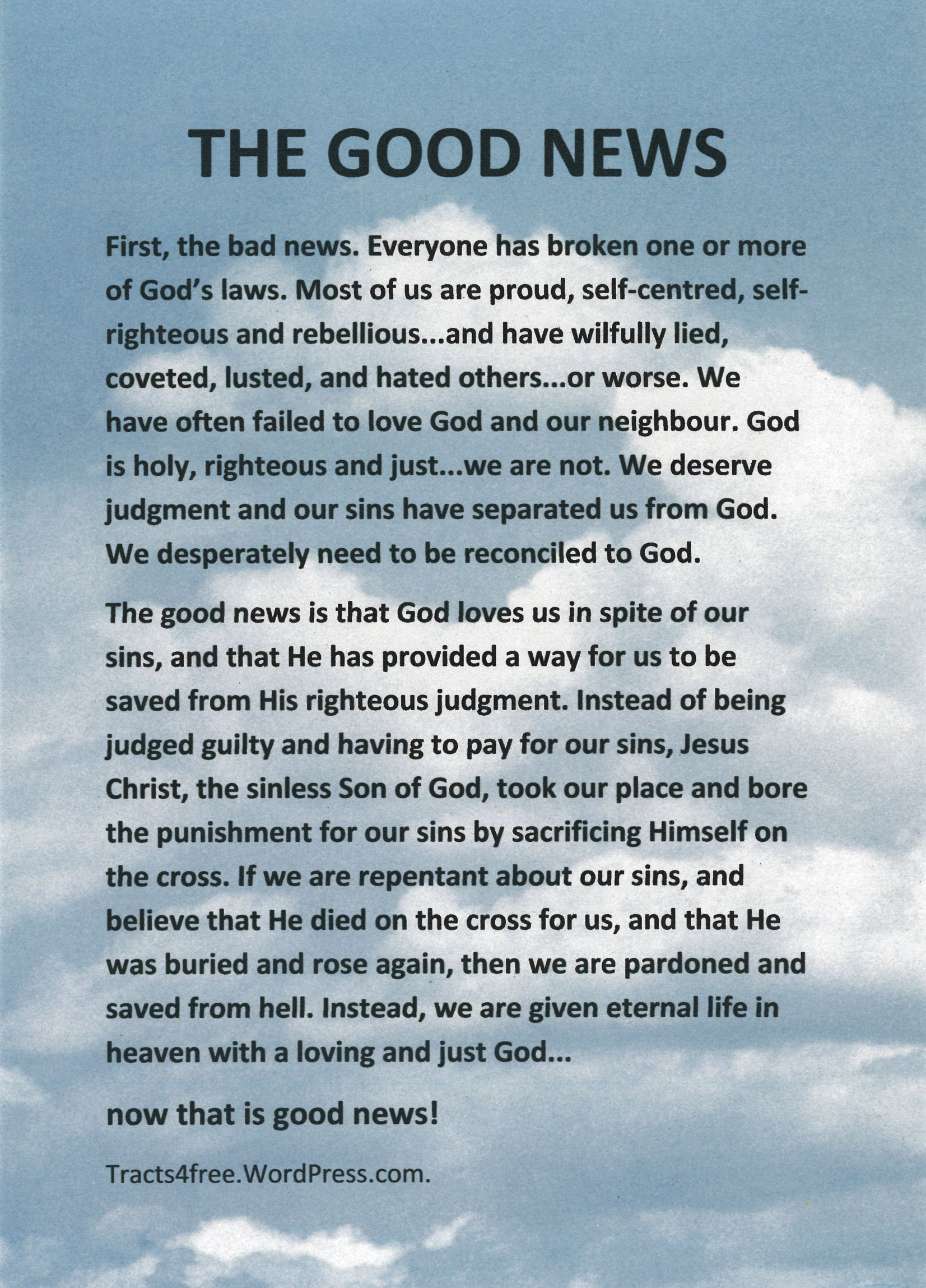 Salvation Tracts Printable - Google Search | The Good News - Free Printable Tracts For Evangelism