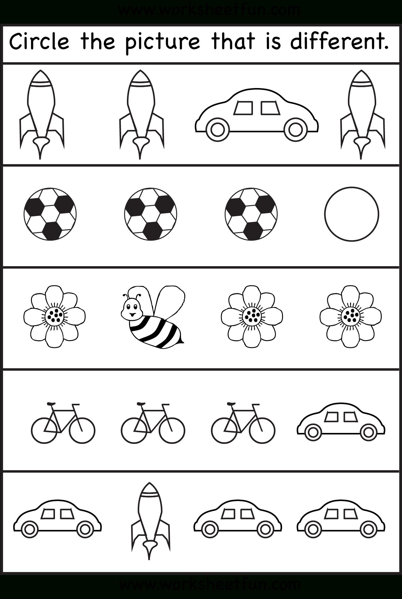 Same Or Different Worksheets For Toddler   Kids Worksheets Printable - Free Printable Toddler Worksheets