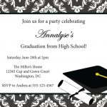 Sample Invitation Card For Graduation Party | Graduation Invitation   Free Online Printable Graduation Invitation Maker