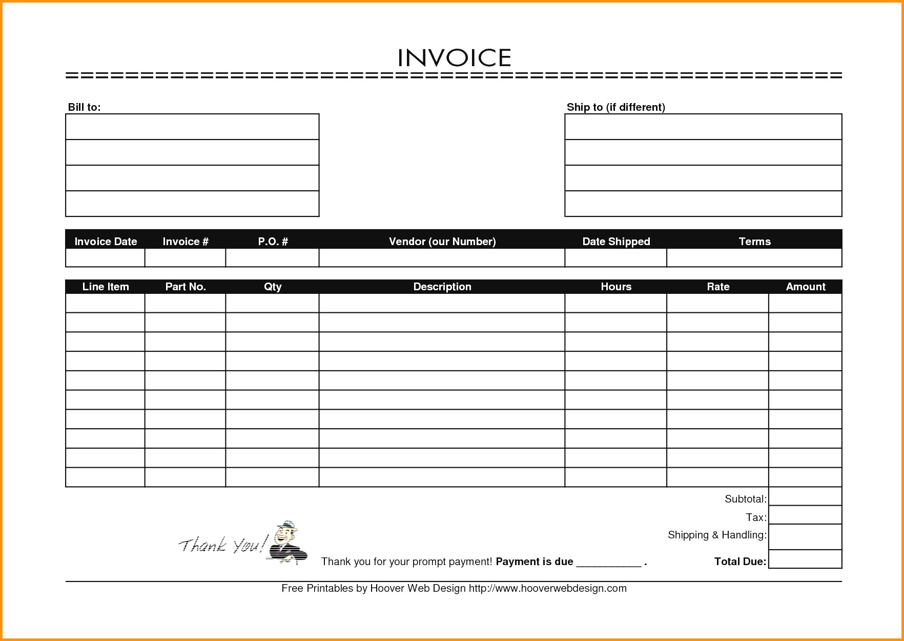 Sample Invoices Printable Free Uk Billing Format Blank Invoice - Free Printable Blank Invoice Sheet