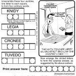 Sample Of Jumble | Tribune Content Agency (March 23, 2015)   Free Printable Word Jumble Puzzles For Adults