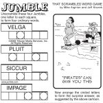 Sample Of Sunday Jumble | Tribune Content Agency | Stuff I Like   Jumble Puzzle Printable Free