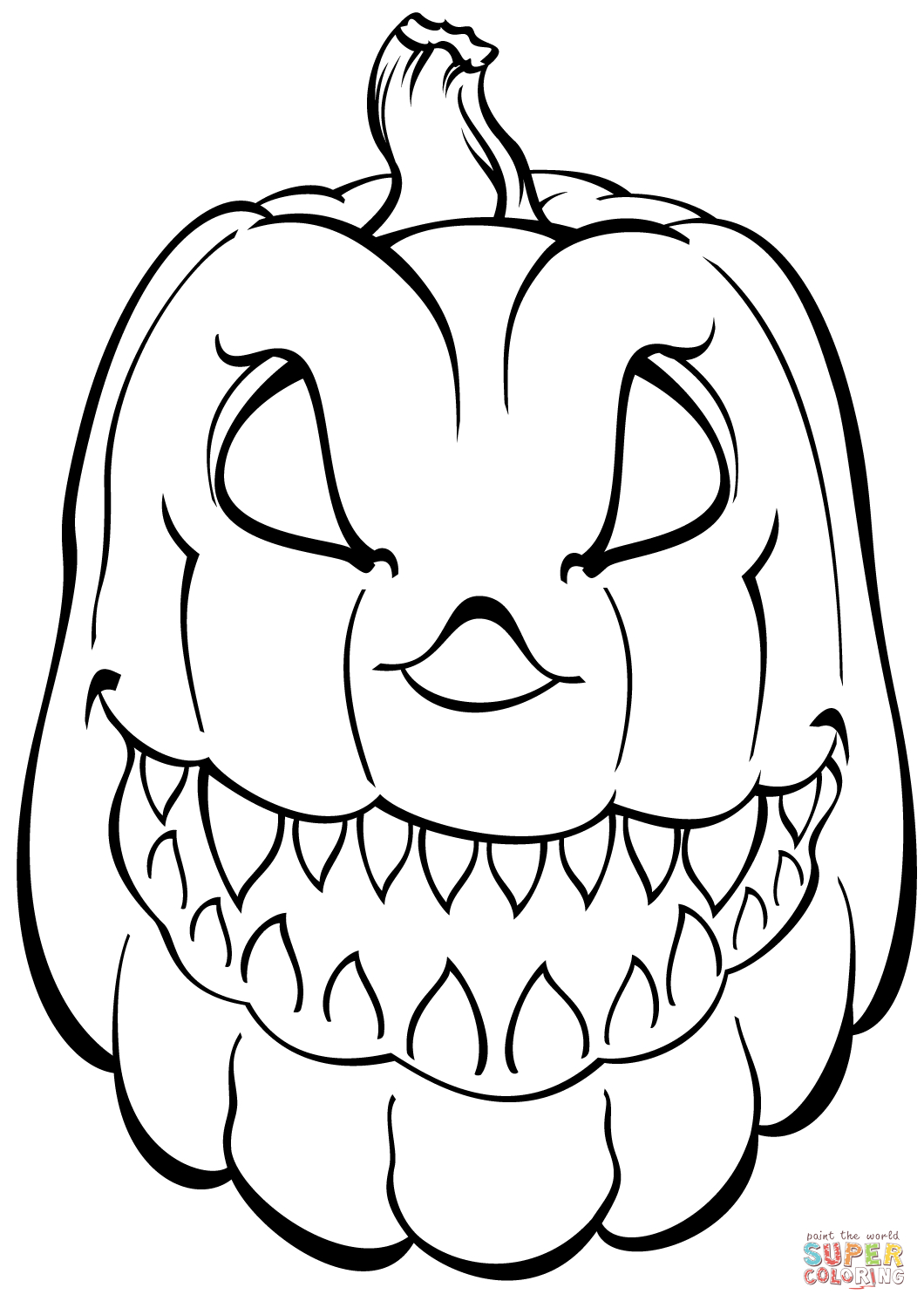 Scary Pumpkin Coloring Page | Free Printable Coloring Pages - Free Printable Pumpkin Coloring Pages