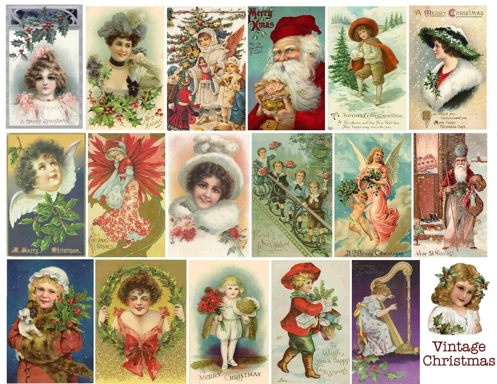 Scrapbook+Christmas+Vintage+Free+Printable | Free Vintage Printable - Free Printable Christmas Photo Collage