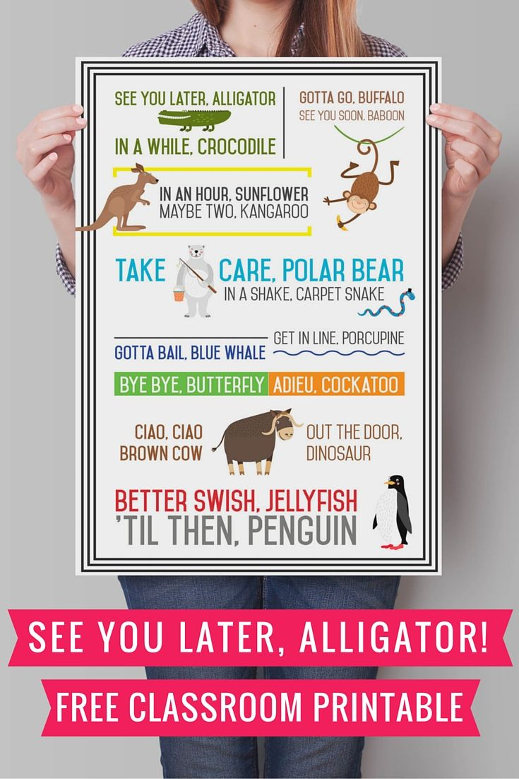 See You Later Alligator {Free Printable} | Preschool Fun | Pinterest - See You Later Alligator Free Printable