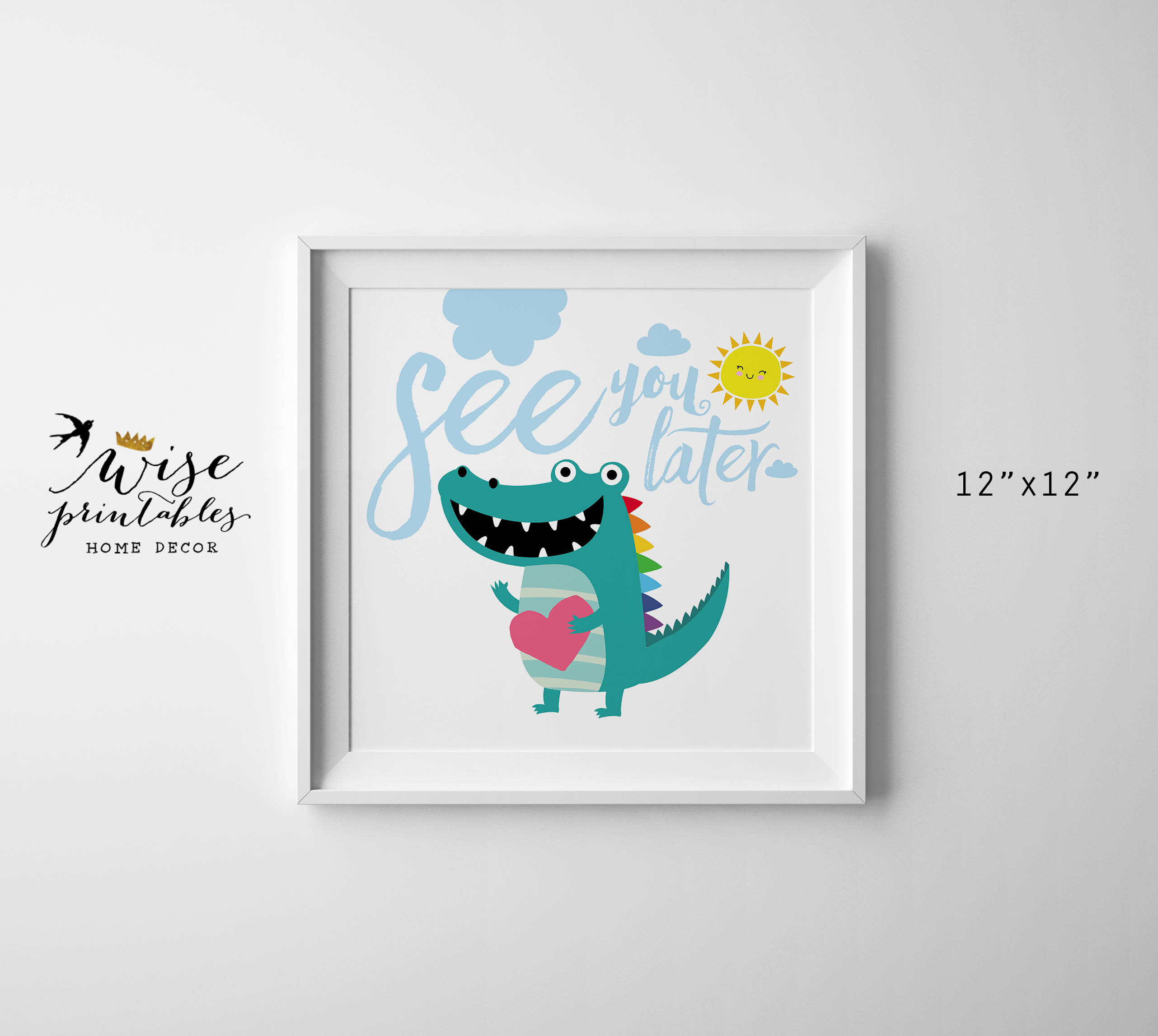 See You Later Alligator Nursery Wall Art Crocodile Digital   Etsy - See You Later Alligator Free Printable