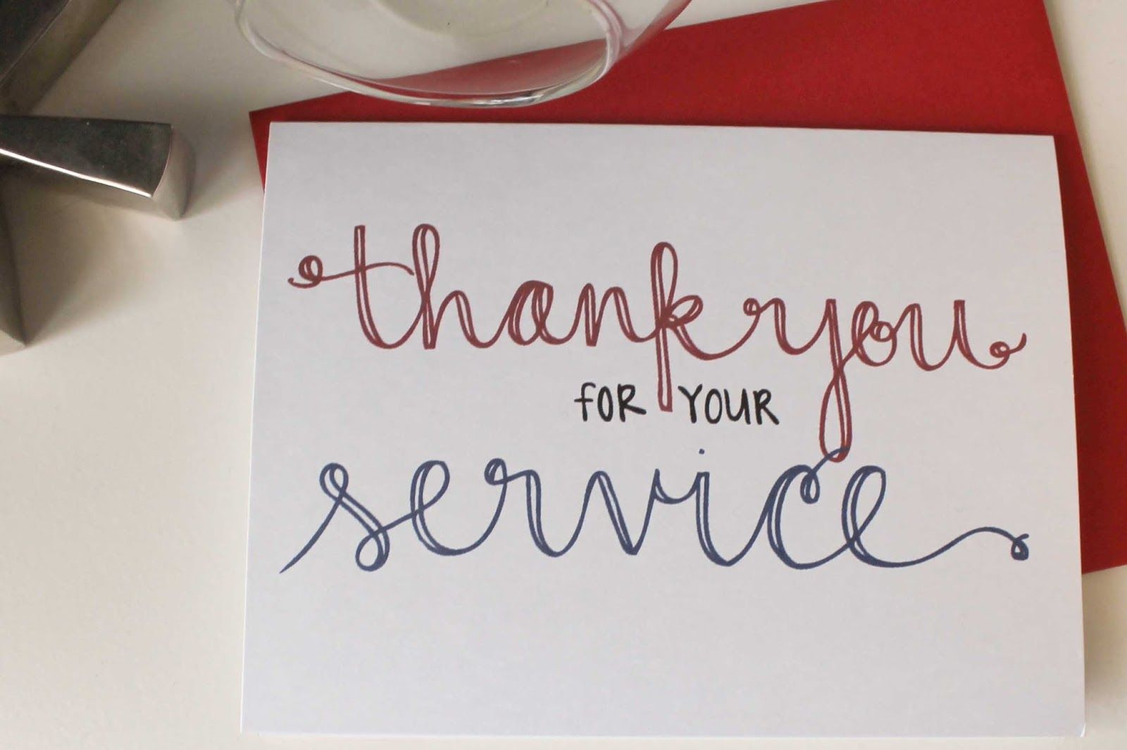 Send A Thank You Card To Our Troops | Diy Notecards - Military Thank You Cards Free Printable