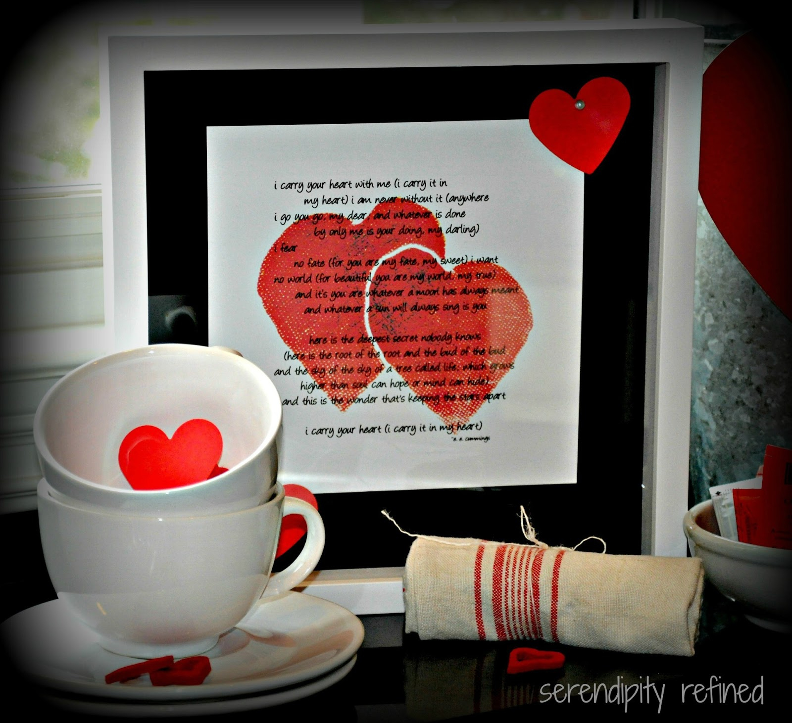 Serendipity Refined Blog: Valentine's Day Decor And A Free Printable - Free Printable Valentine's Day Decorations