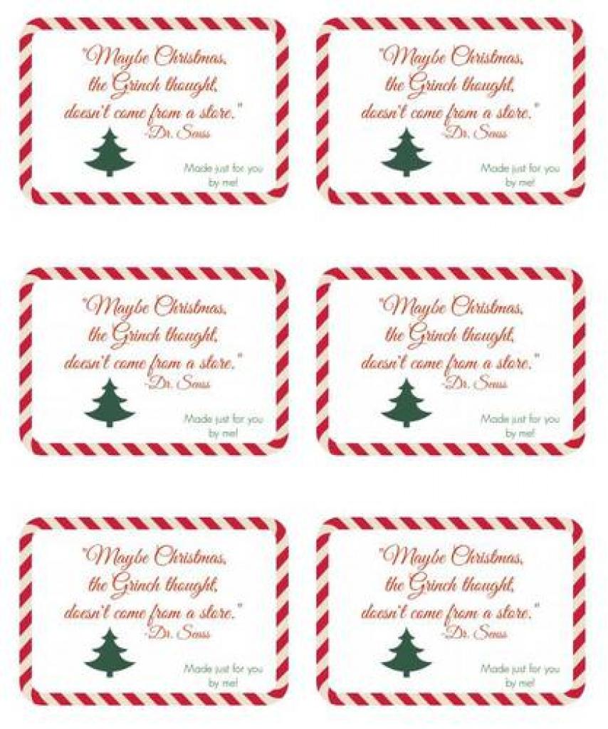 Seuss Handmade Gift Christmas Label Design - Label Templates - Ol150 - Free Printable Christmas Bookplates