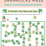 Shamrocks Maze | St. Patrick's Day | Pinterest | Maze Worksheet   Free Printable St Patrick's Day Mazes