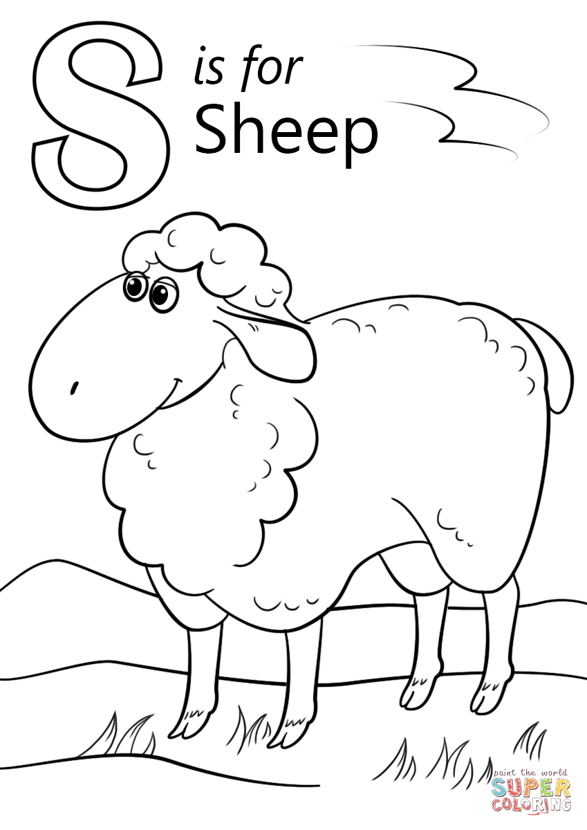 Sheep Coloring Pages Letter S Is For Page Free Printable 849×1200 - Free Printable Pictures Of Sheep