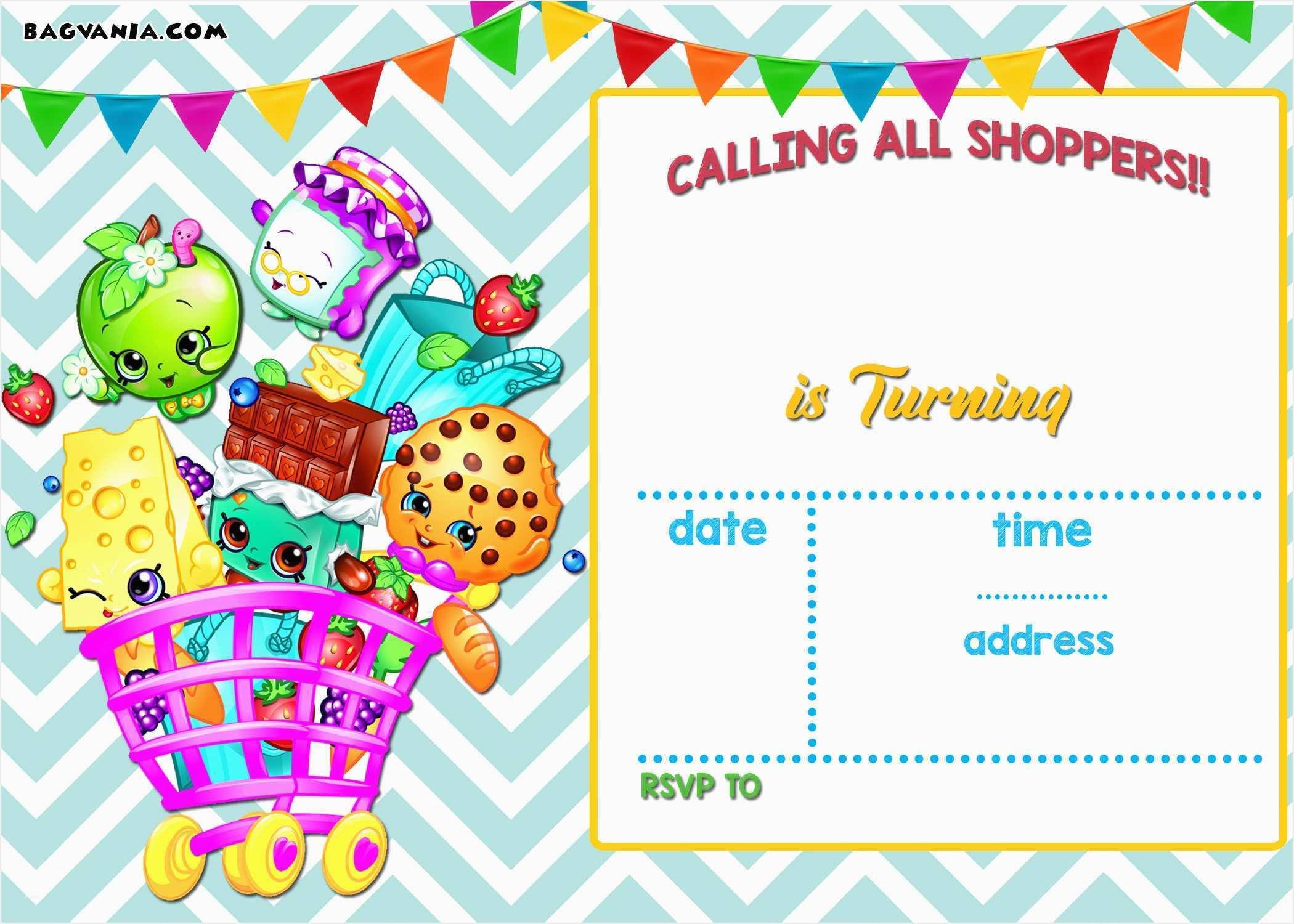 Shopkins Printable Invitations – Fly-Bies.se - Free Printable Shopkins Birthday Invitations