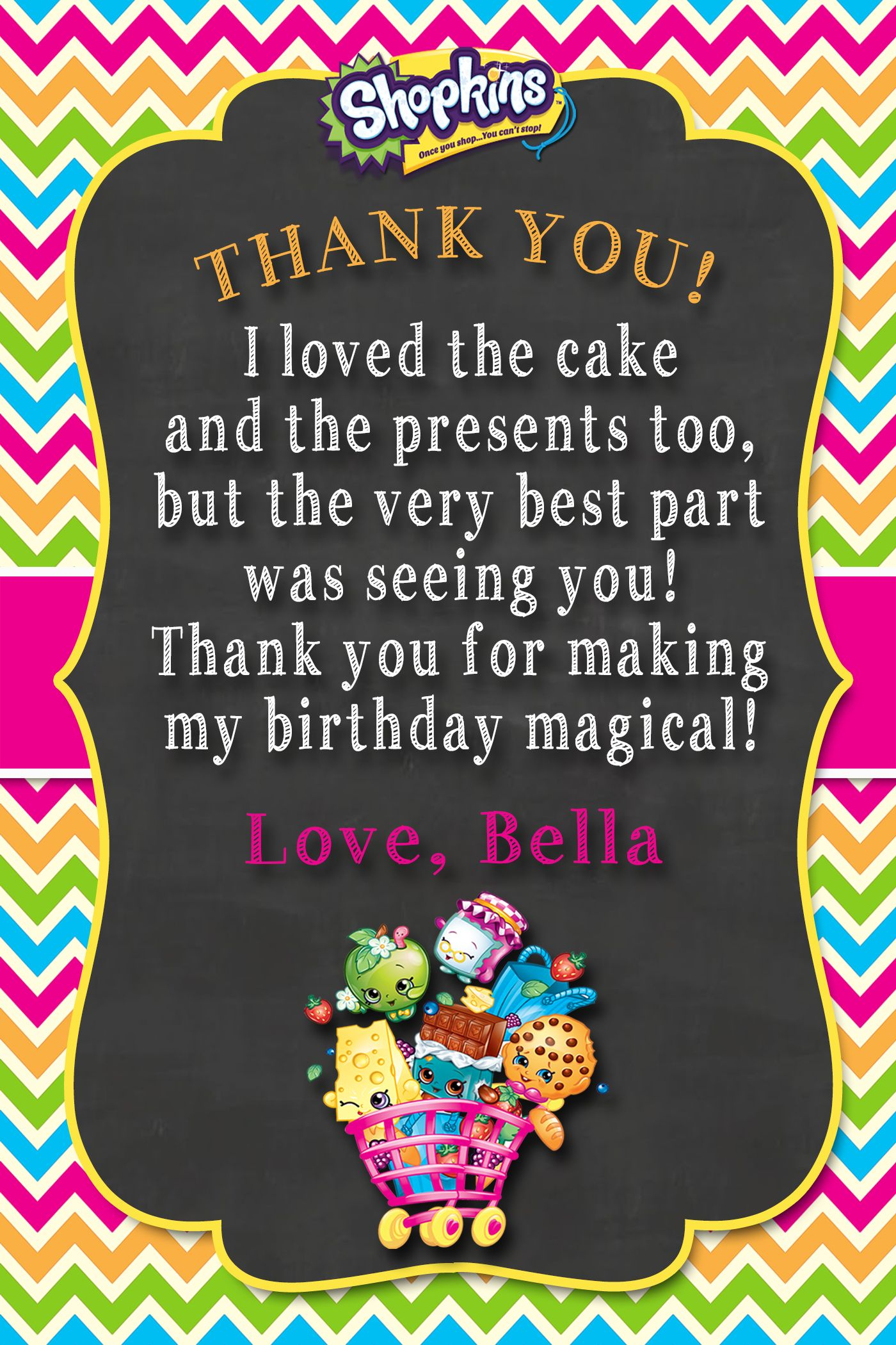 Shopkins Thank You Card | Shopkins 4 My Bianca! In 2019 | Shopkins - Free Printable Shopkins Thank You Cards
