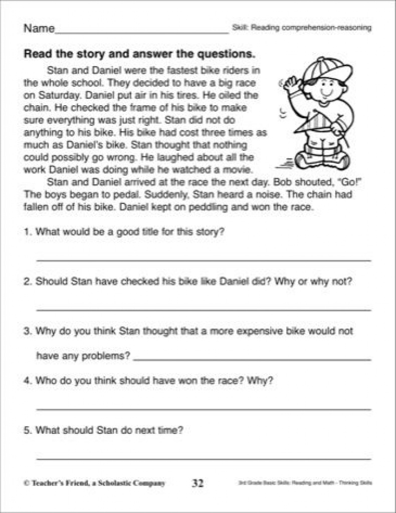 Short Story With Comprehension Questions: 3Rd Grade Reading Skills - Free Printable Short Stories With Comprehension Questions
