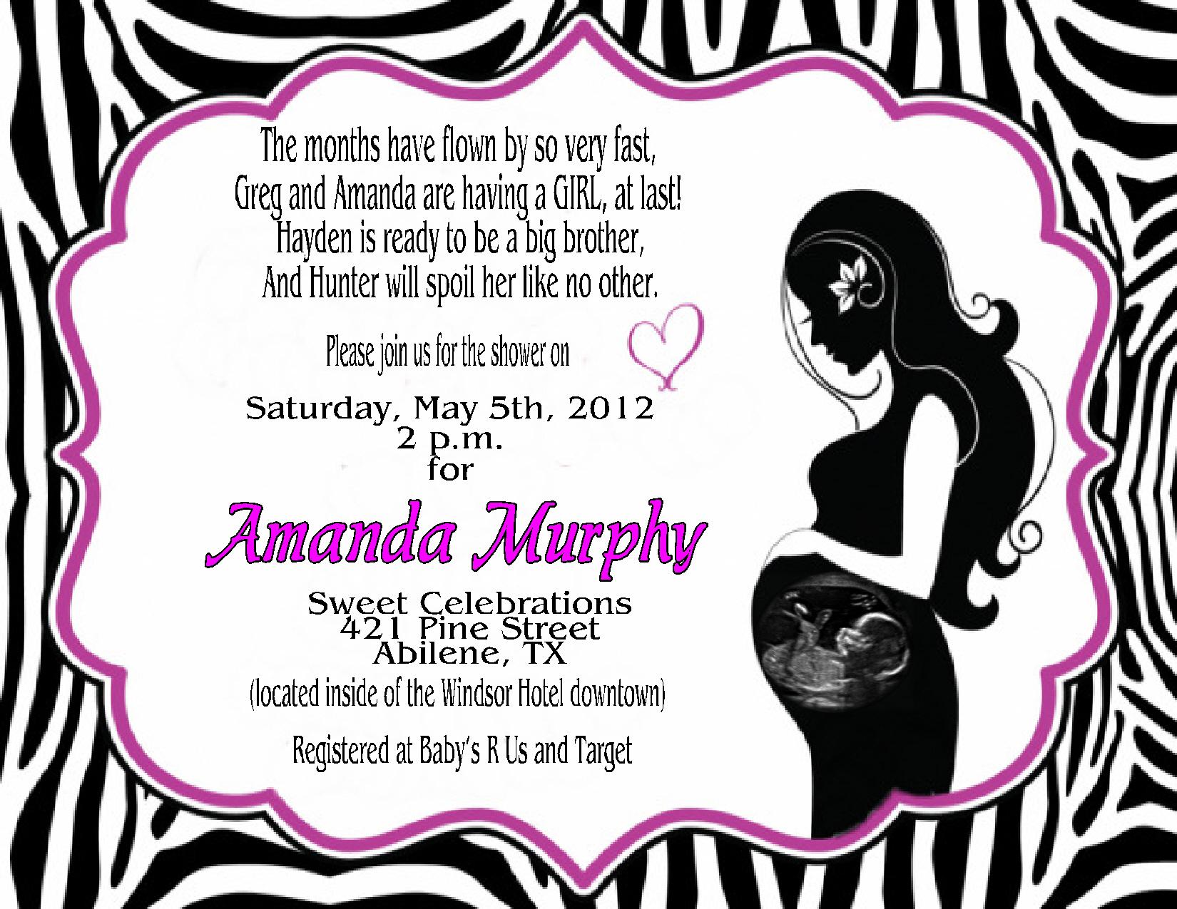 Simba Baby Shower Invitations Simba Lion King Baby Shower Invitation - Free Printable Zebra Baby Shower Invitations