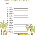 Simba Lion King Baby Shower Games   Word Scramble In 2019 | Jungle   Free Printable Lion King Baby Shower Invitations