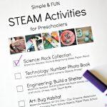 Simple And Fun Steam Activities For Preschoolers   The Educators   Free Printable Stem Activities