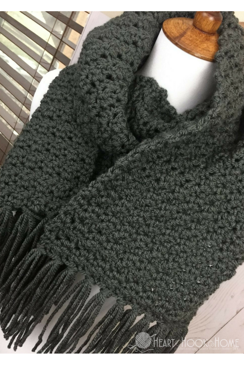 Simple Scarf For Men Free Crochet Pattern - Free Printable Crochet Scarf Patterns