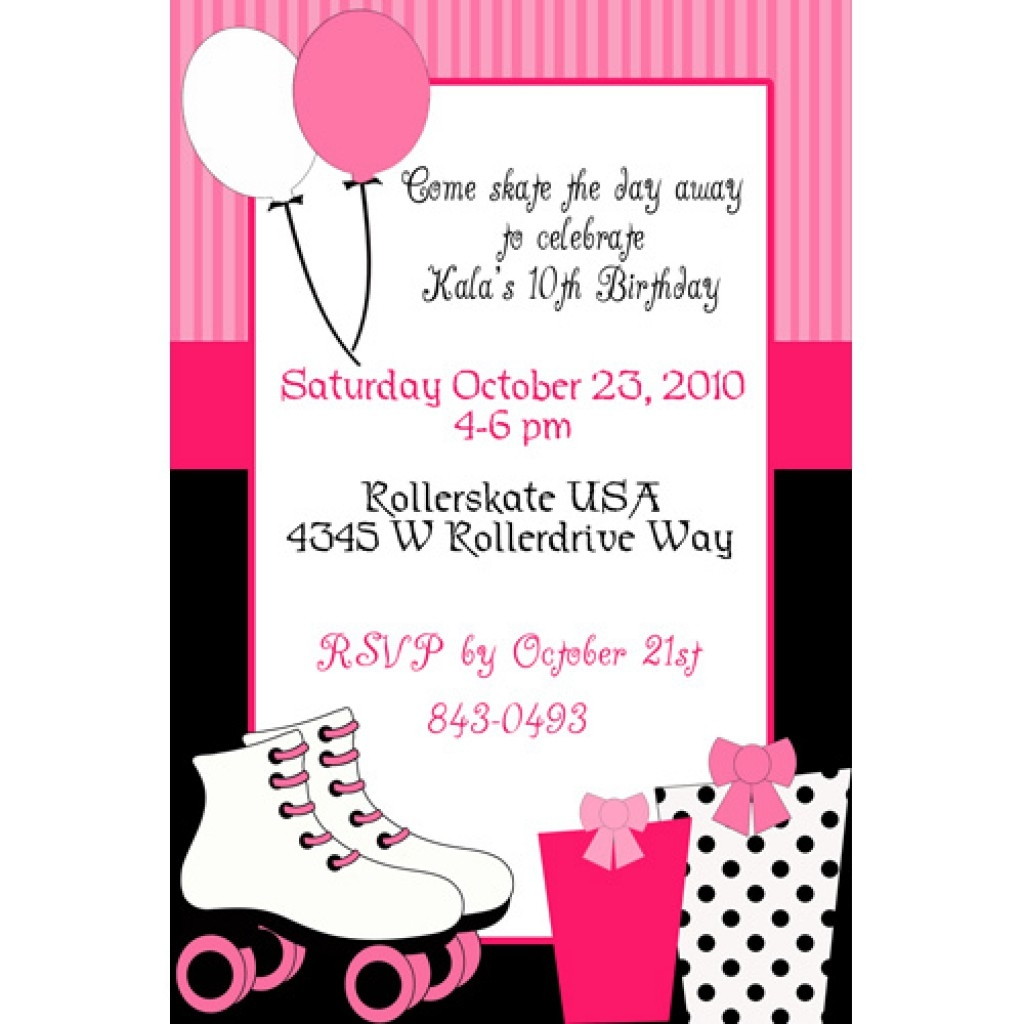 Skating Party Invitations Free Printables Beautiful Roller Skate For - Free Printable Skating Invitations
