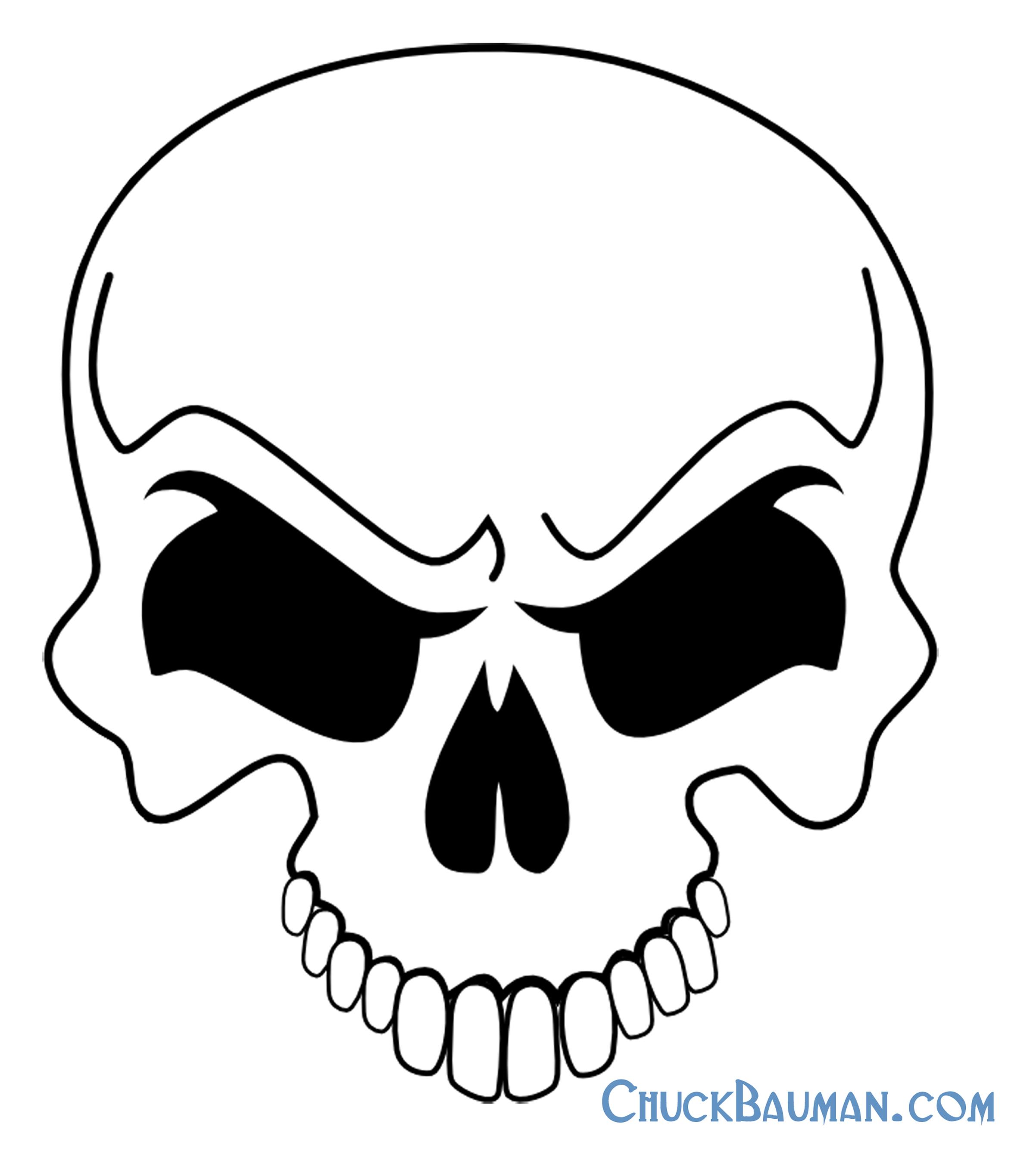 Skulls Airbrushing - Free Skull Airbrushing Stencils - Free - Free Printable Airbrush Stencils