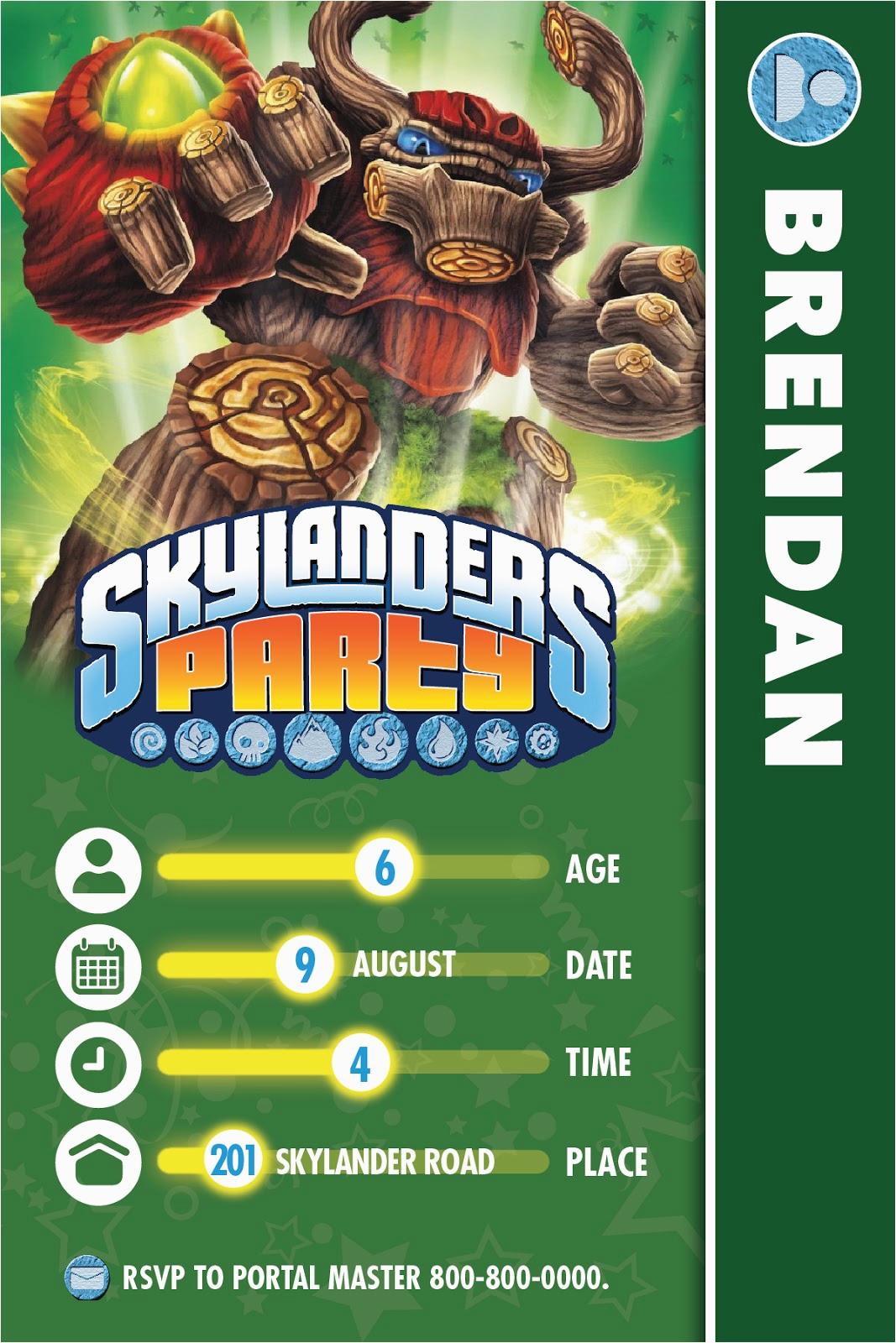Skylanders Birthday Party Invitations   Birthdaybuzz - Free Printable Skylander Invitations