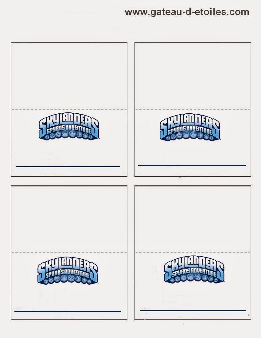 Skylanders Free Printable Mini Kit.   Oh My Fiesta! In English - Free Printable Skylander Invitations