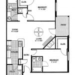 Small House Floor Plans 2 Bedrooms Bedroom Floor Plan Download   Free Printable Small House Plans