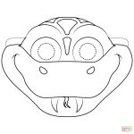 Snake Mask Coloring Page | Free Printable Coloring Pages   Free Printable Lizard Mask