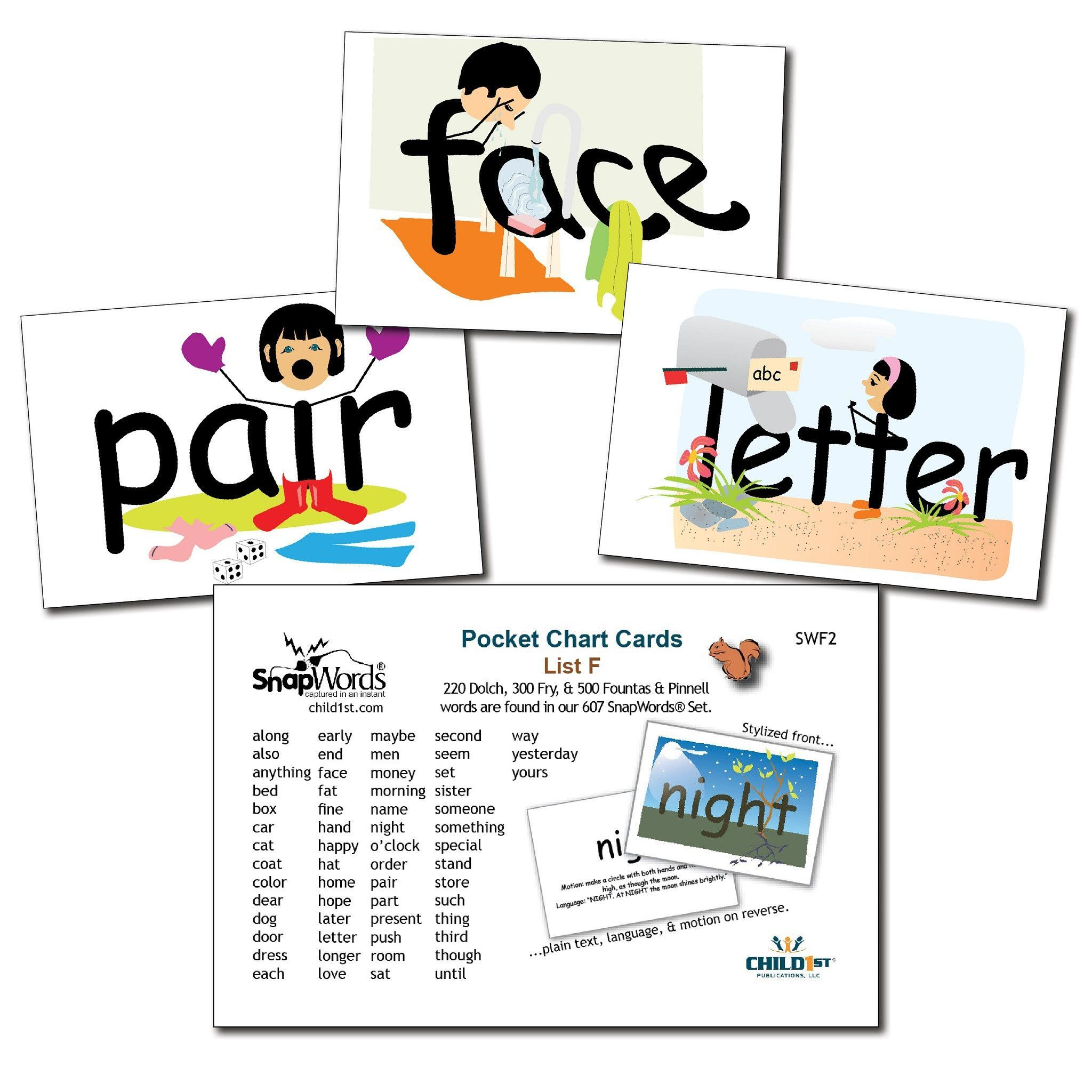 Snapwords® List F Pocket Chart Cards | Kids Learning Resources - Free Printable Snapwords