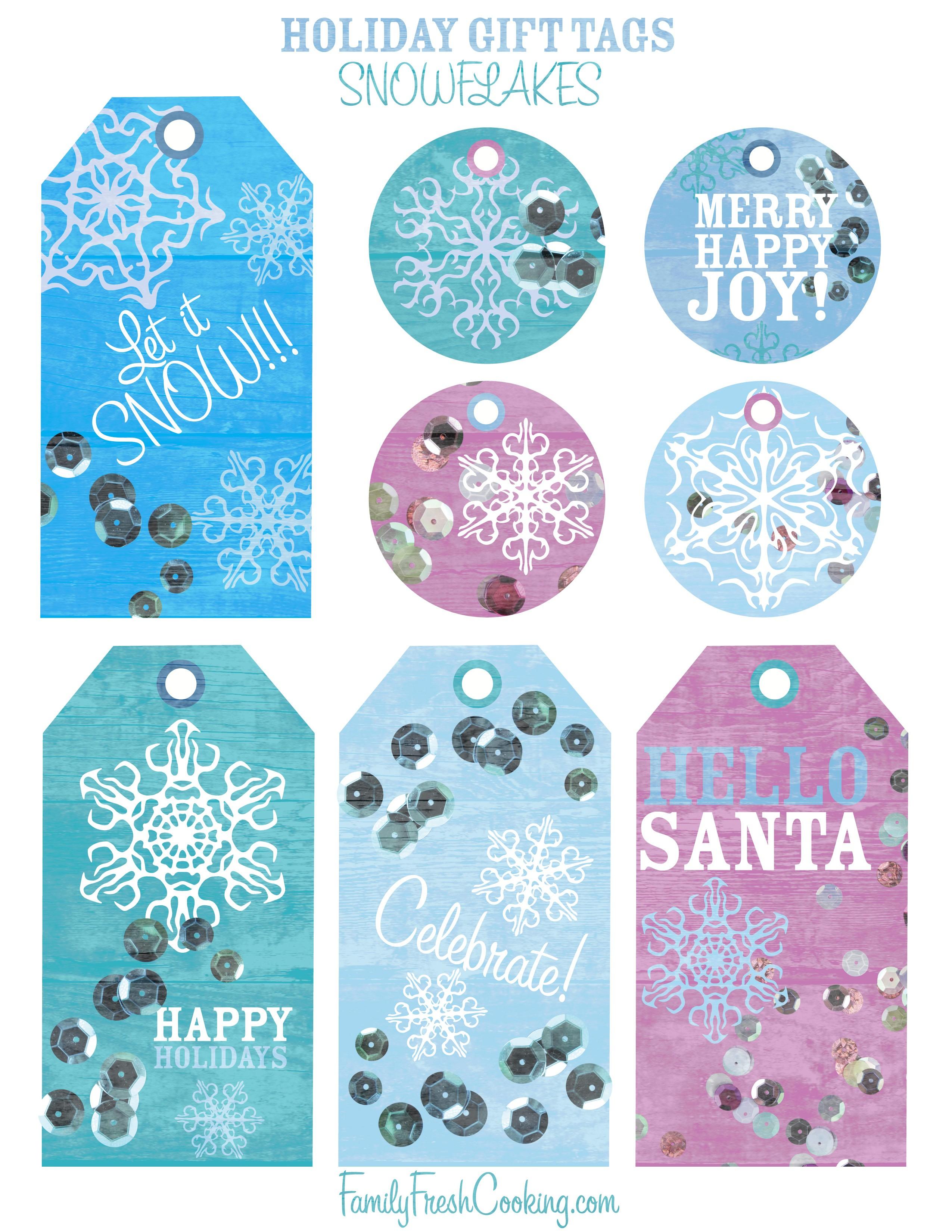 Snowflakes ~ Free Printable Holiday Gift Tags - Marla Meridith - Free Printable To From Gift Tags