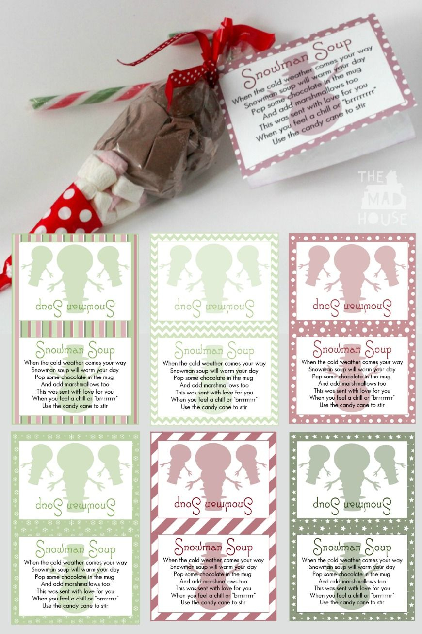 Snowman Soup And Free Printable Labels | Christmas Foods | Pinterest - Snowman Soup Free Printable