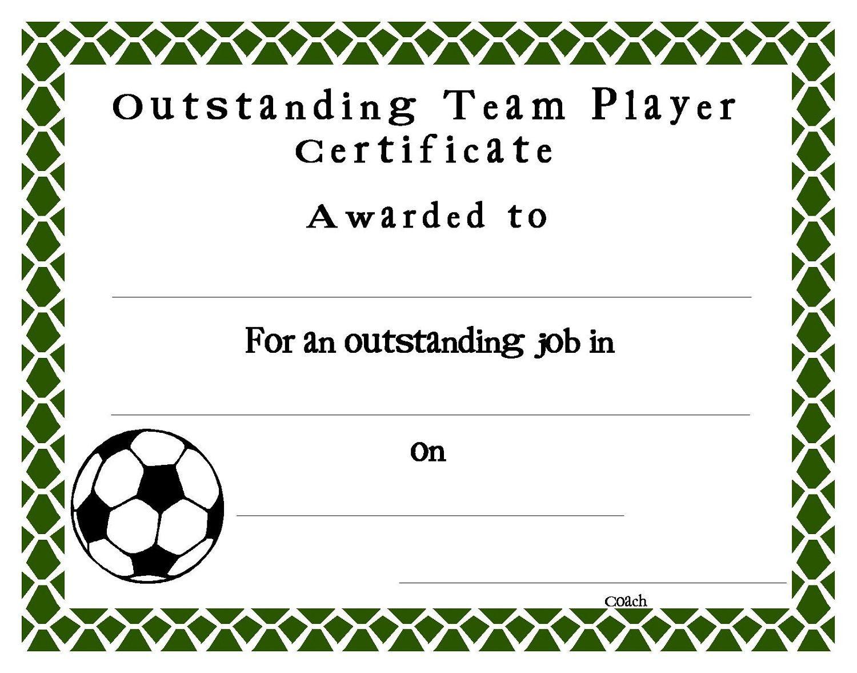 Soccer Certificate Templates Blank   K5 Worksheets   Sports - Free Printable Soccer Certificate Templates