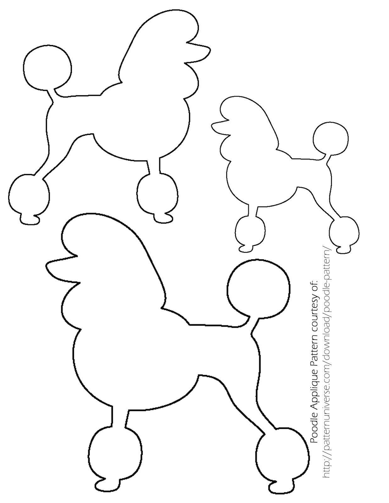 Sock Hop Poodle Skirt - The Ribbon Retreat Blog | Little Girls - Free Printable Poodle Template